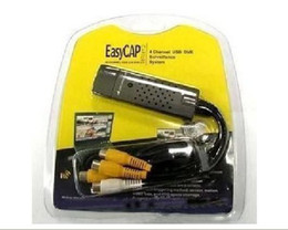 Wholesale Easy Cap Video Adapter - Video Capture AV S-Video line into USB 2.0 Adapter PC Easy CAP 4 CHANNEL Video Adapter
