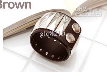 Mode Lederen Snap Klinknagel Armband Vintage Bangle Armbanden Klassieke Wide Style Design Dames Xmas Gifts