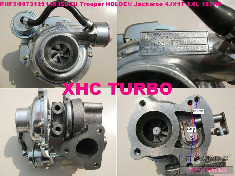 RHF5 / 8971371098 Turbocharger para ISUZU Trooper HOLDEN Jackaroo OPEL  Monterey 4JX1T 3 0L 157HP