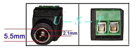 Connettore della presa femminile di CC di CC della macchina fotografica di CC di 2.1mm DHL libera il trasporto