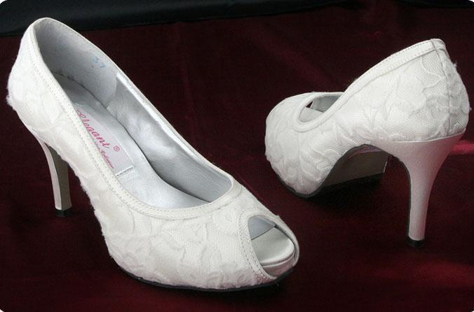 ff168064a800 White Ivory Lace Upper High Heel Shoes Peep Toe Bridal Shoes Open Toe  Wedding Shoes Black Shoes Buy Shoes Online From Mygod2011