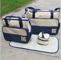Wholesale Nursery Mama Bag - 10pcs lot diaper bag mummy bag baby diaper bag nursery bag Mama Bags four colors mixed order