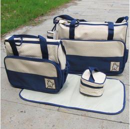 Sacchetto di pannolini 10pcs / lot mummia borsa bambino pannolino sacchetto della scuola materna Mama Borse quattro colori ordine misto da