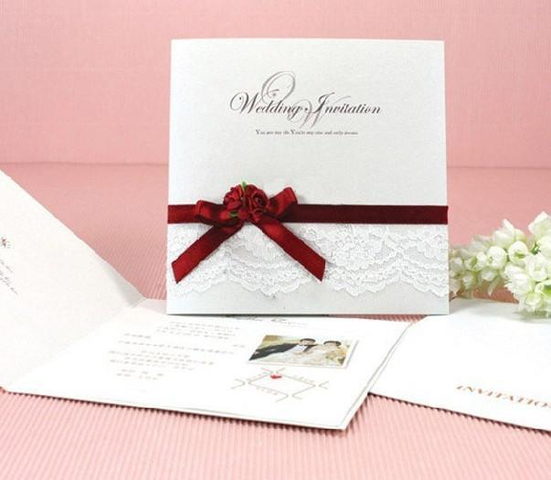 Wedding cards invitation cards 0902 a red ribbon with red flower invitation cards 0902 a red ribbon with red flower decoration beach theme wedding invitations christian wedding invitations from chenyong666 stopboris Image collections