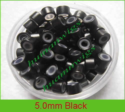 MIX Color 5mm Siliconen Micro Rings Feather Micro Rings Kralen