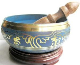 Wholesale cheap beautiful Tibetan Buddhism Cuprum Mantra Singing Bowl   Musical Instruments Bells