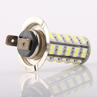 Wholesale H7 68 Smd - Car H7 68 SMD LED White 68SMD Headlight Bulb Light Lamp 68LED 2pcs lot