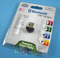 Wholesale Mini USB Bluetooth V2 Dongle Wireless Adapter best quality instock for Windows XP Vista and win7