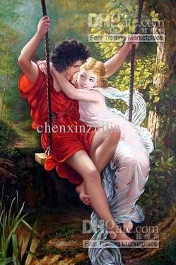 Oil Paintingloving Husband And Wife Size 2436 Online With 6558