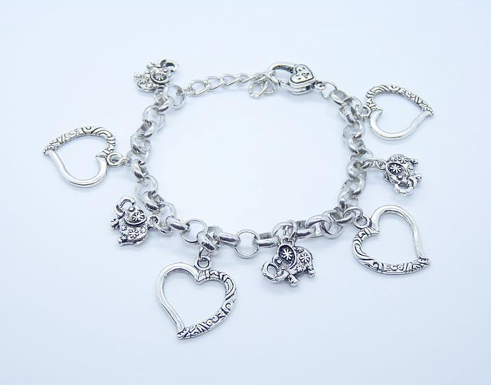 Fantastische Schmuck 925 Silber Multi Schmetterling Anhänger Links Kette Charme Armbänder, können Stil zu mischen