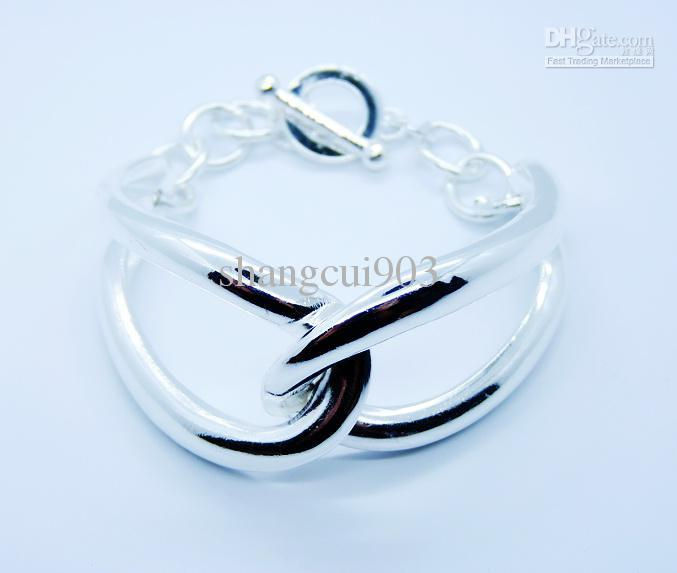 Großhandels 925 Silber verzerrte Gold überzogenes personifiziertes Damen-Armband passendes Weihnachtsgeschenk