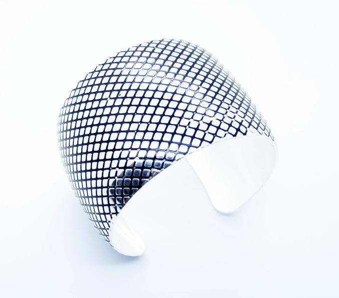 새로운 스타일 925 실버 여성의 보석 punctiform 오픈 뱅글 커프스가 넓어 혼합 스타일 수 있습니다