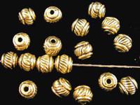 Wholesale Gold Lantern Spacer Beads - 450pcs Antiqued gold plt lined lantern spacer beads A193