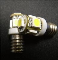 Wholesale Red Screws - E10 1449 428 Screw Base Super White 5 LED Light Bulb 12V ENT