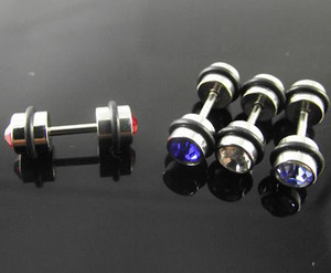 Wholesale 48pcs stud earring Ear o ring Barbell Rings Piercing Stainless Steel Body Jewelry