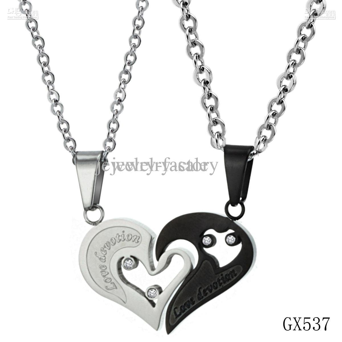 Wholesale Vogue Jewellery Titanium Steel Necklace Two In
