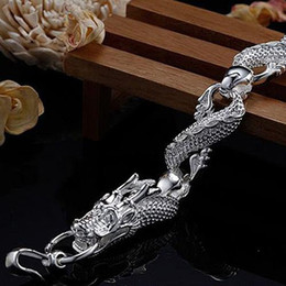 Wholesale Dragons Bracelet - 10pcs lot Factory price fashion jewelry 925 silver charm new Dragon chain bracelet Free P&P