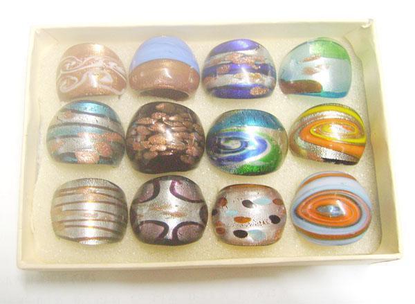 / Mix Colors Stili Stili Glasswork Glass Band Anelli donna fai da te gioielli artigianale regalo RI1