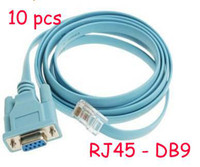Wholesale Ipad Usb Router - Wholesale 10pcs lot NEW Cisco Router Switch Console Cable RJ45 - DB9 Free Shipping