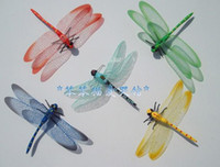 Wholesale fridge magnetic - 100pcs lot Large dragonfly fridge magnet,refrigerator magnets,Children's toys,Car stickers