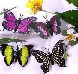 Wholesale Simulation Butterfly - 100pcs lot Simulation of butterfly fridge magnet, fridge magnet, refrigerator magnets