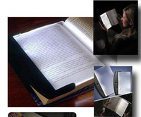 Venda por atacado - 5PCS / LOT.LED Magic Night Light Reading wedge Painel de livro lâmpada de leitura Paperback Night la
