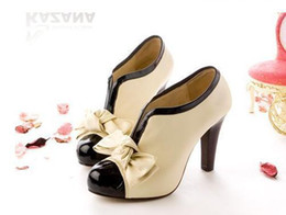 Wholesale Sweet Pumps - size 40 sweet bowknot discounted high heel shoes sexy pumps women's fashion high heel shoes
