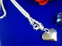 $enCountryForm.capitalKeyWord Canada - Inexpensive 925 Silver Heart jewelry 3mm rope chain Necklace fit a solid heart