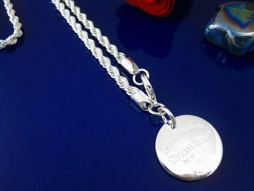 Goedkoop 925 zilveren hart sieraden 3mm touw ketting ketting passen een solide hart