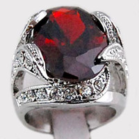 Wholesale Solid Gold Pave Diamond - 3.1ct Garnet Diamond 14K Solid Gold Ring
