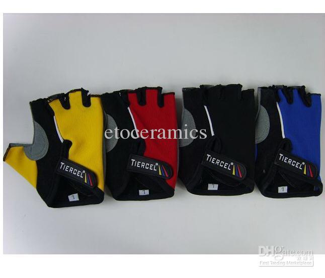 Nouveau Gants de vélo de sport Gants de sport gants de sport gants sans doigts demi doigt vélo TIERCEL BXY002 Livraison gratuite