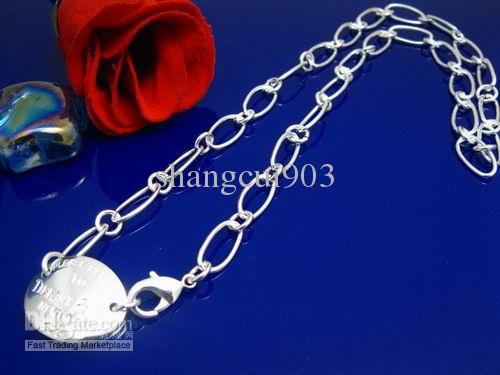 Super Schmuck Weihnachtsgeschenk 925 Silber Chrysantheme Key entworfen Kette Halskette