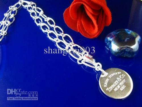 Super bijoux collier de chaîne de chrysanthème de clé de cadeau de Noël 925 argent