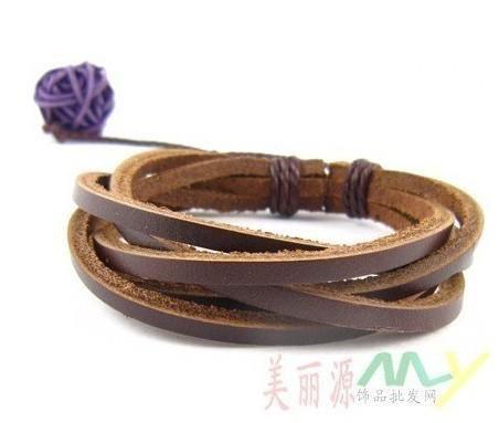 Genuine Handmade Leather Briaded Bracelets Adjustable Coffee Brown xmas gift new arrival men women