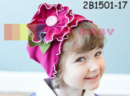 Wholesale Top Baby Beanies - Top Baby Baby Hats For unisex Fashion Caps Flower Beanie Baby Accessories 24 Designs