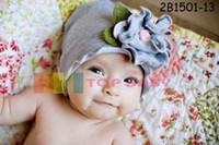 Wholesale Designed Beanies - Baby Hats For unisex Fashion Caps Flower Beanie Baby Accessories 31 Designs