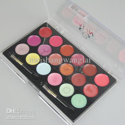 패션 전문 립스틱 18 색 팔레트 립글로스 메이크업 3 / 패킷 화장품 립 스틱 스위트 15915 - A01 #