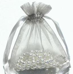 200 pezzi argento organza sacchetto regalo sacchetti pouch favore 9 x 12 cm (3,5 pollici x 4,7 pollici)