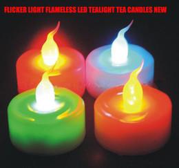 Wholesale Magic Candle Led - LED Magic Colorful Candle Light Party & Wedding Flameless Romantic Tealight -50pcs lot