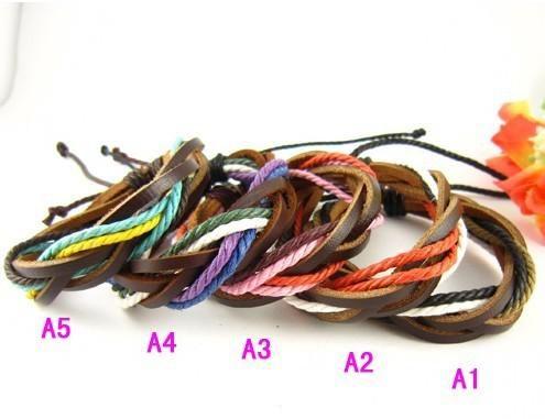 Neue ariival Mode handgemachte Leder geflochtene Armbänder Vintage Armband einstellbar Unisex Liebhaber Fabrik Preis /
