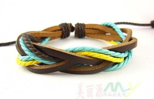 Nuovo prezzo di fabbrica / degli amanti unisex regolabili del braccialetto d'annata dei braccialetti intrecciati fatti a mano di ariival di modo