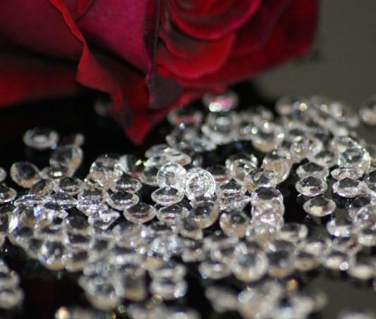Wholesale Bag Diamond Wedding Clear Table Scatter Crystals Confetti