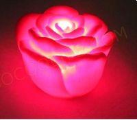 Wholesale Led Rose Floating Candles - Novelty LED Red Rose Lights Floating Rose Flower Party & Wedding Candle Lights 100pcs lot
