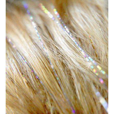 """24"""" Feather BellaVia Tinsel Hair Extensions 3D Rainbow 1000 strandsSparkling Shinny Hair for Party"""