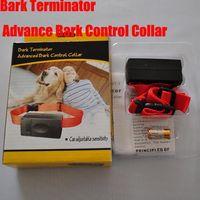 Wholesale Terminator Barking Collar - Static Shock Dog Bark Terminator Advanced Bark Control Collar Bark Stop Can Adjustable Sensitivity