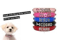Wholesale Mix Slide Dog Collar - DIY Personalized PU Leather Slide Pet Dog collars, pet collars you can mix color for a lot