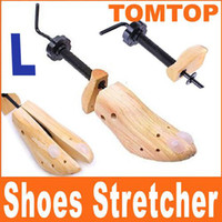 Wholesale Hotel Trees - New 100% Genuine Wood 1x 2-Way Shoe Tree Stretcher Shoes Shaper Three Sizes H1371 1 pair