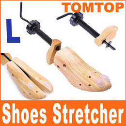 Wholesale Wood Shoe Stretchers - New 100% Genuine Wood 1x 2-Way Shoe Tree Stretcher Shoes Shaper Three Sizes H1371 1 pair