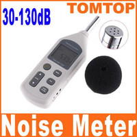 Wholesale Digital Sound Level Meter Decibel - Digital Sound Level Meter Noisemeter Noise Measuring Meter Decibel Logger Tester 30-130dB H4328 1pcs