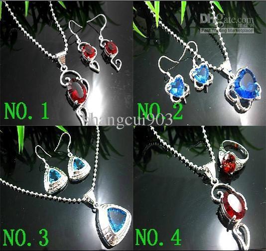 Художественный рубиновый кварц 925 серебро великолепный драгоценный камень ожерелье серьги драгоценные камни комплект ювелирных изделий